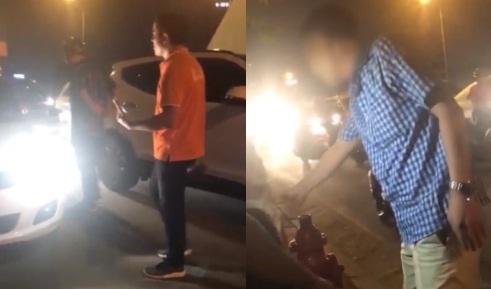 Nể phục với cách cư xử của người bố khi tài xế ô tô suýt đâm vào 2 con nhỏ
