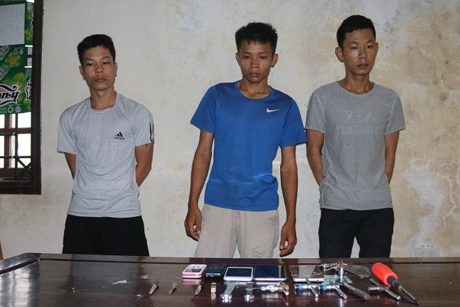 Hà Tĩnh: Bắt nhanh ổ nhóm trộm và tiêu thụ xe máy liên huyện