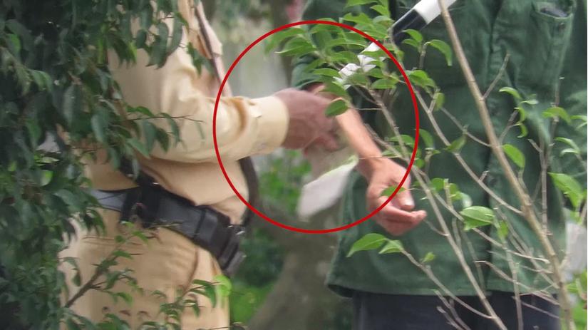Xuất hiện clip nghi CSGT Thái Bình làm luật trên đường