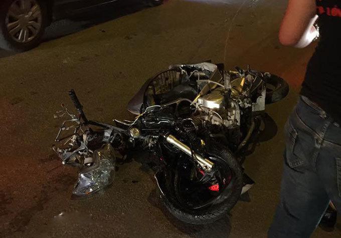 Quảng Ninh: Xe ô tô của CSGT va chạm xe máy, một người tử vong2