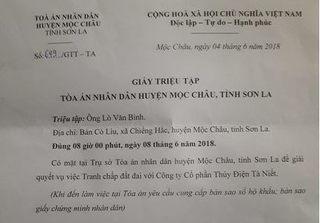 Phó Chánh án TAND huyện Mộc Châu triệu tập người đã mất 12 năm lên giải quyết tranh chấp đất