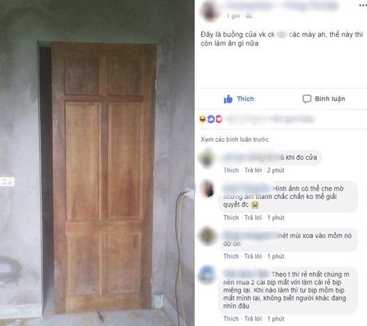 Chiếc cửa hở khe lắp cửa buồng tân hôn vợ chồng trẻ