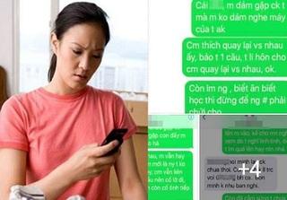 Người yêu cũ nhắn tin hẹn gặp chồng, vợ lên mạng xin chị em cách trị 'con giáp thứ 13'