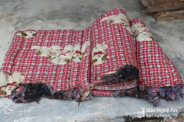 Chiếc nệm cháy dở của nhà bà Trần Thị An (85 tuổi)