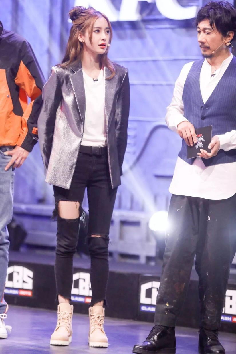 Angela Baby, skinny jeans rách