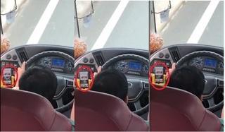 Xử phạt mức cao nhất tài xế xe khách Phương Trang vừa lái xe vừa coi phim người lớn