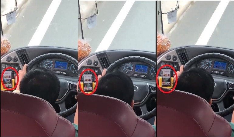 Hãng xe Phương Trang xử phạt tài xế vừa lái xe vừa coi phim người lớn