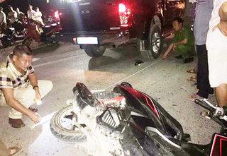 Vụ va chạm khiến một thanh niên tử vong ở Nghệ An: Xe biển xanh của Cảnh sát PCCC