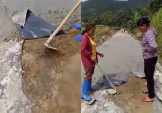 Làm đường bê tông 'mỏng như bánh đa' ở Yên Bái: Đơn vị thi công lên tiếng