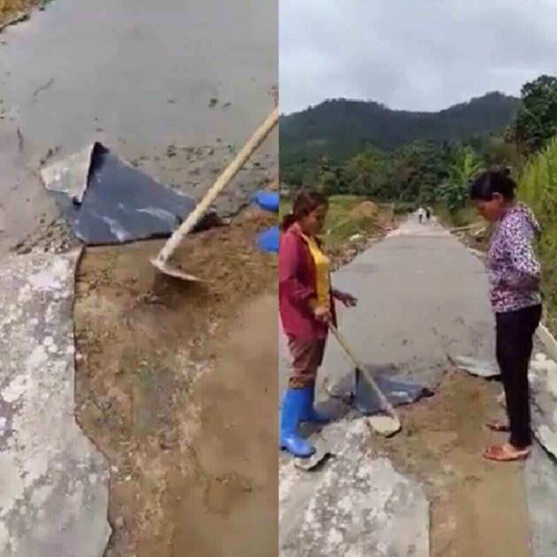 Yên Bái: Dân bức xúc đào đường đang thi công vì nghi kém chất lượng