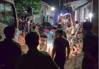 Sập nhà đang xây dựng, 1 người tử vong, 3 người khác bị thương