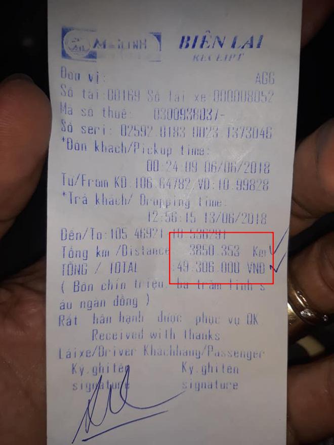 Chuyến taxi khứ hồi An Giang Hà Nội, hết 49 triệu tiền cước2