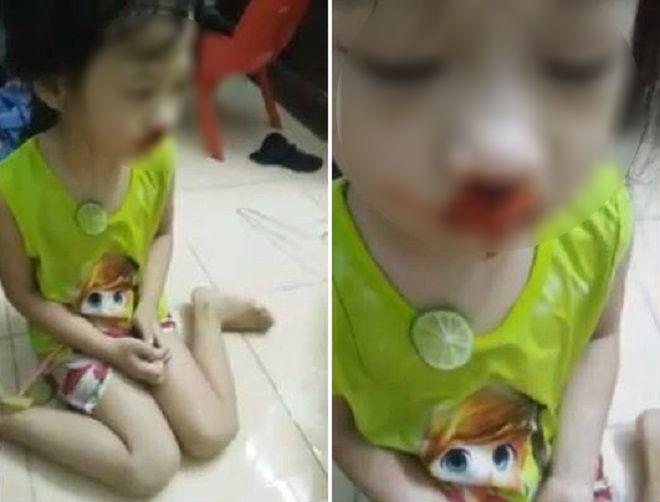 Mẹ đánh con gái rồi livestream trên facebook