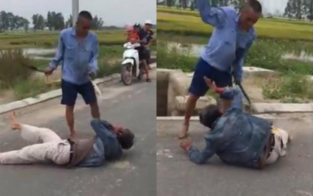 Lấy trộm xe máy, người đàn ông bị dân dùng gậy gộc, dao quắm đánh đập dã man