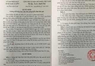 Sai phạm tại Công ty CP Thương mại và Triển lãm Sao Việt: Xử phạt và phải khắc phục hậu quả