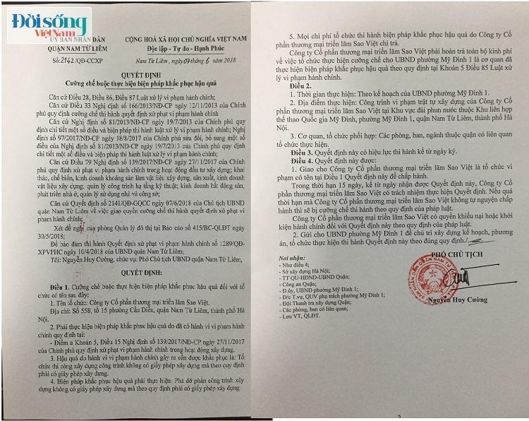 Công ty CP thương mại và triển lãm Sao Việt bị xử phạt