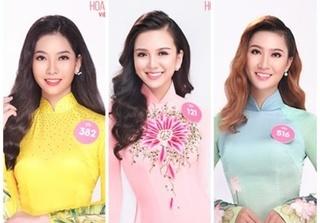 Thí sinh Hoa hậu Việt Nam 2018 rạng rỡ với áo dài