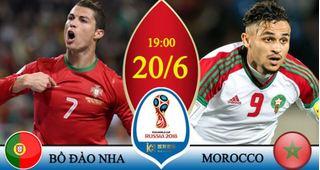 Dự đoán kết quả tỷ số World Cup 2018 giữa đội tuyển Bồ Đào Nha và Ma Rốc