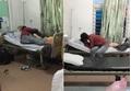 Đôi bạn trẻ âu yếm nồng nhiệt trên giường mặc kệ nhiều bệnh nhân xung quanh
