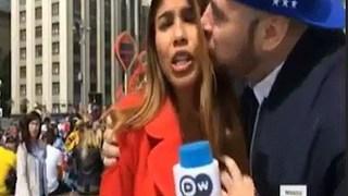 Nữ phóng viên bị 'yêu râu xanh' sờ ngực khi đang đưa tin trực tiếp về World Cup 2018