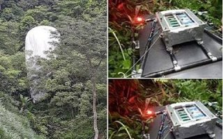 Xác định vật thể lạ chứa máy quay từ trên trời rơi xuống rừng ở Hà Giang