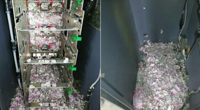 Chuột đột nhập cây ATM, 400 triệu tiền mặt hóa giấy vụn