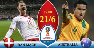 Dự đoán kết quả tỷ số World Cup 2018 giữa đội tuyển Đan Mạch và Australia