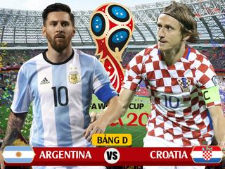 Dự đoán kết quả tỷ số World Cup 2018 giữa đội tuyển Argentina và Croatia