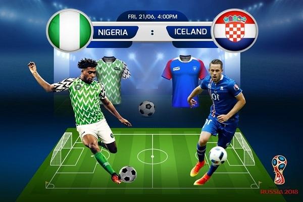 Dự đoán kết quả tỷ số World Cup 2018 Nigeria và Iceland