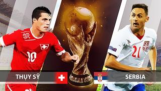 Dự đoán kết quả tỷ số World Cup 2018 giữa đội tuyển Serbia và Thụy Sĩ