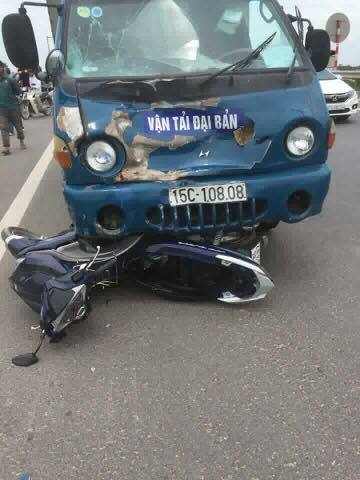 Thái Bình: Va chạm với xe tải, người đàn ông tử vong