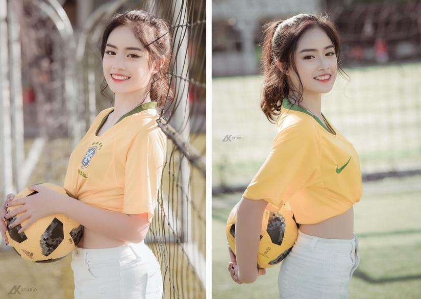 Thiếu nữ xinh đẹp trên sân bóng khiến nhiều chàng trai ngẩn ngơ68