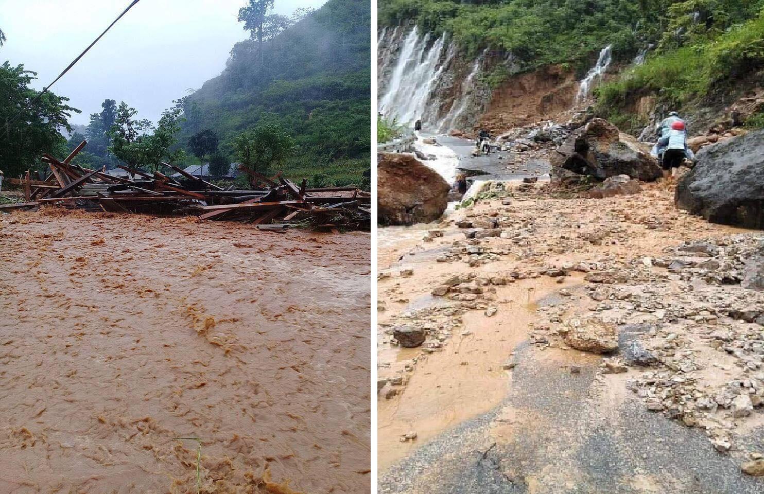 Mưa lũ khiến 20 người chết, mất tích và thương vong ở Lai Châu và Hà Giang