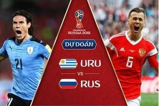 Dự đoán kết quả tỷ số World Cup 2018 giữa đội tuyển Nga và Uruguay