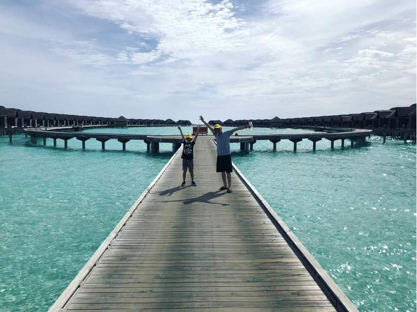 Cường Đô la - Đàm Thu Trang bị nghi chụp ảnh cưới ở Maldives?