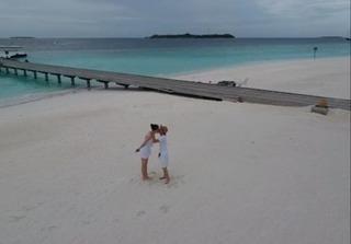 Cường Đô la - Đàm Thu Trang chụp ảnh cưới ở Maldives?