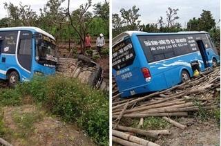 Thái Bình: Xe khách tông bay xe con xuống mương, tài xế tử vong tại chỗ