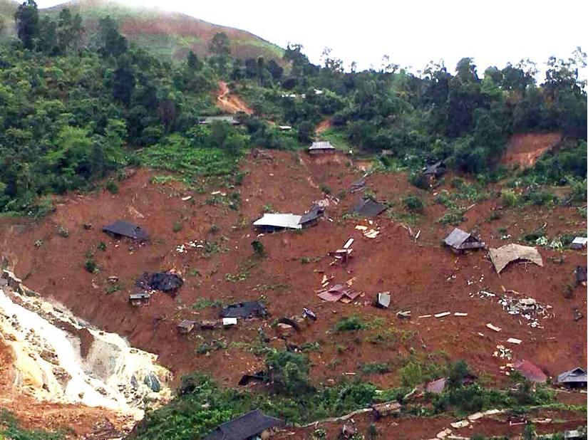 Sìn Hồ, Lai Châu: Thêm 25 hộ dân bị đất đá vùi lấp