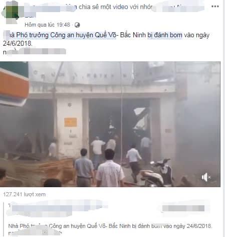 Truy tìm, xử lý kẻ tung tin nhà Phó trưởng Công an huyện Quế Võ bị đánh bom