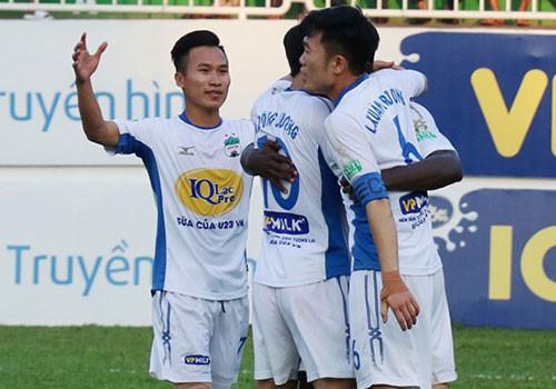 CLB HAGL của HLV Dương Minh Ninh hiện ở vị trí thứ 6 trên bảng xếp hạng