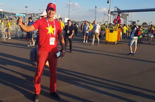Bình Minh chịu chơi nhất showbiz Việt khi sang Nga xem World Cup 2018
