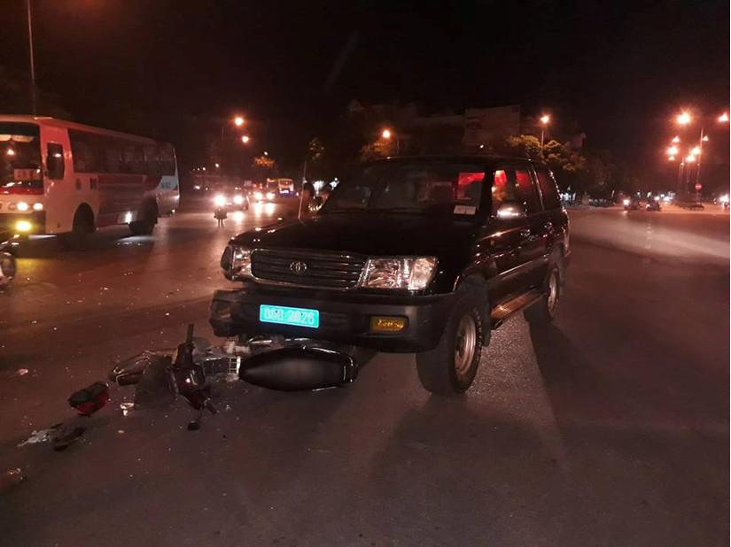 Hải Dương: Va chạm với xe biển 80B, một người bị thương nặng