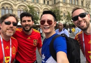 Sau Bình Minh, đến lượt Hoàng Bách chơi trội sang Nga xem World Cup 2018