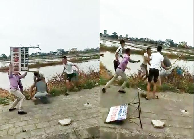 Nam Định: Tranh giành khách, 2 nhà xe dùng hung khí lao vào hỗn chiến