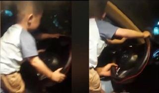Livestream cảnh con nhỏ tập lái ô tô trên đường, bố mẹ trẻ bị 'ném đá' tơi bời