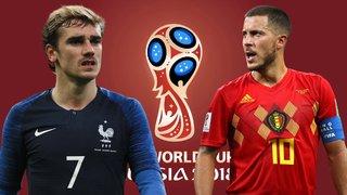 Nhận định Bán kết World Cup 2018 giữa đội tuyển Pháp và Bỉ