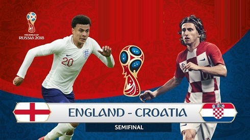 Bán kết World Cup 2018 giữa đội tuyển Anh và Croatia