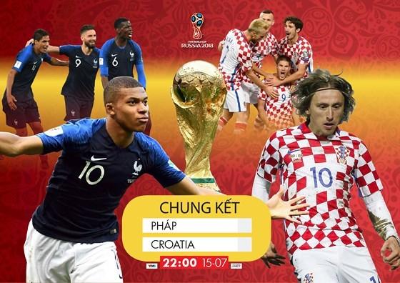 Pháp và Croatia sẽ gặp nhau tại trận chung kết trong mơ vào lúc 22h00 ngày 15/7,