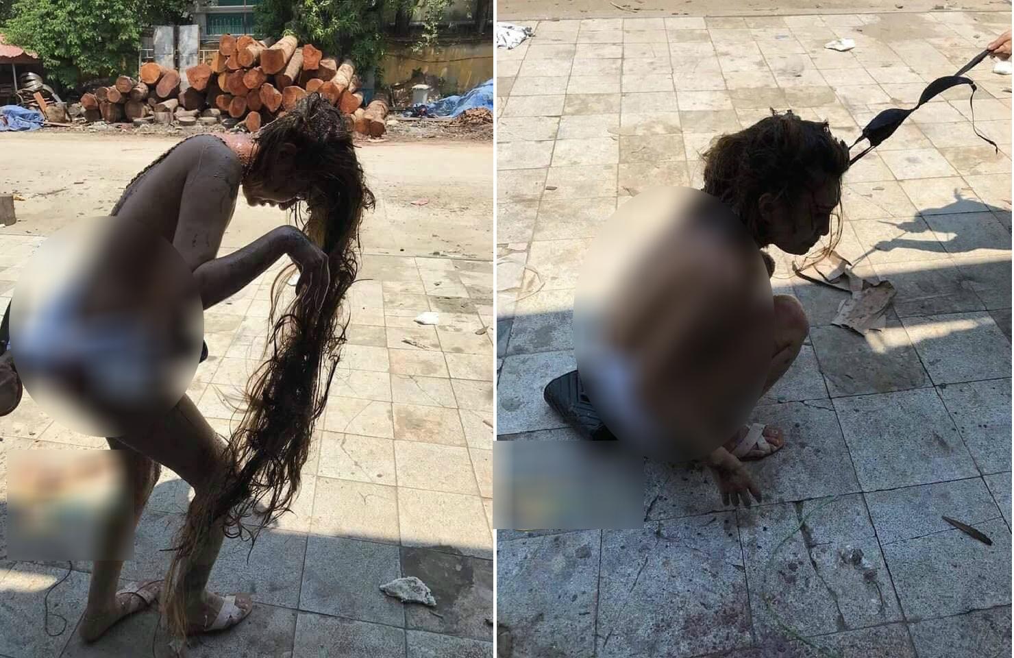 Cô gái bị đánh ghen, lột áo, đổ mắm tôm lên người?