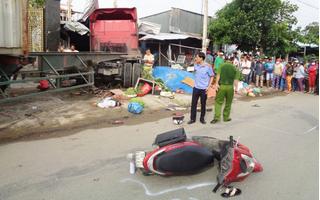 Clip container mất lái đâm nát nhà dân, bé gái 5 tuổi tử vong tại chỗ